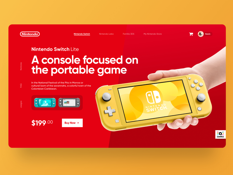 Nintendo Website - Concept red website ux ui nintendo