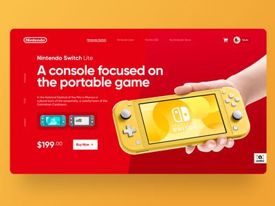 Nintendo Website - Concept