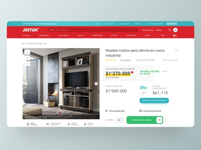 Jamar eCommerce typography red ux ecommerce interface ui