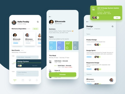 Tutoring concept green app learning tutoring ux interface ui