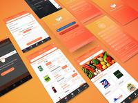 Pocket Grocery Mobile App + 2 Dribbble Invites
