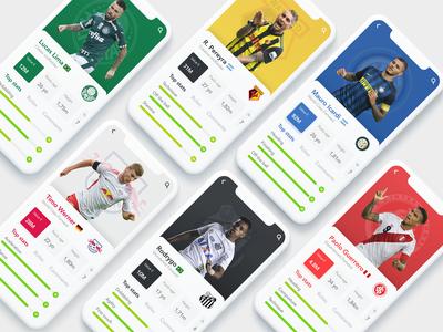 Soccer App design interface app hd iphone iphone x mobile ui ux ux  ui futball futebol team sport football manager football sports soccer