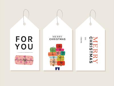 Gift Tag Printables graphic design vector printable christmas