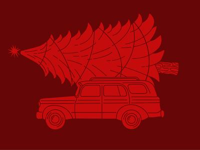 Christmas Caravan // Red