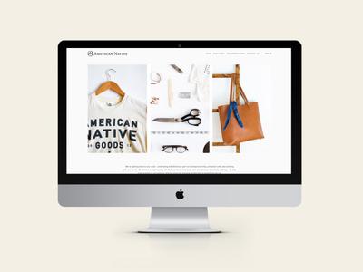 American Native // Web Design