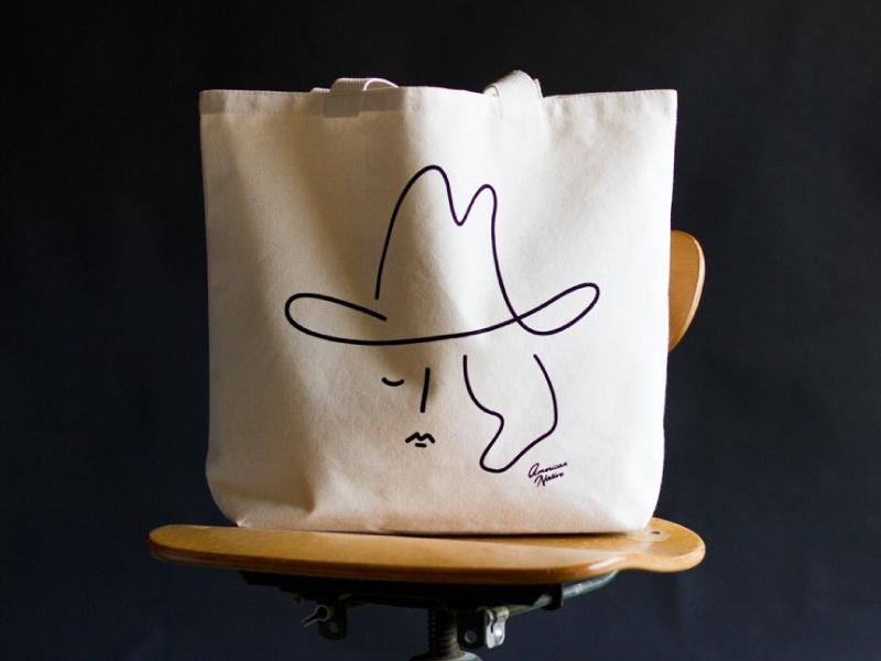 Cowgirl Tote brand southwest western cowgirl illustration product design retail