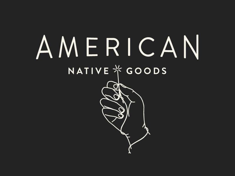 American Native Type + Illustration hand lock up brand design brand type illustration