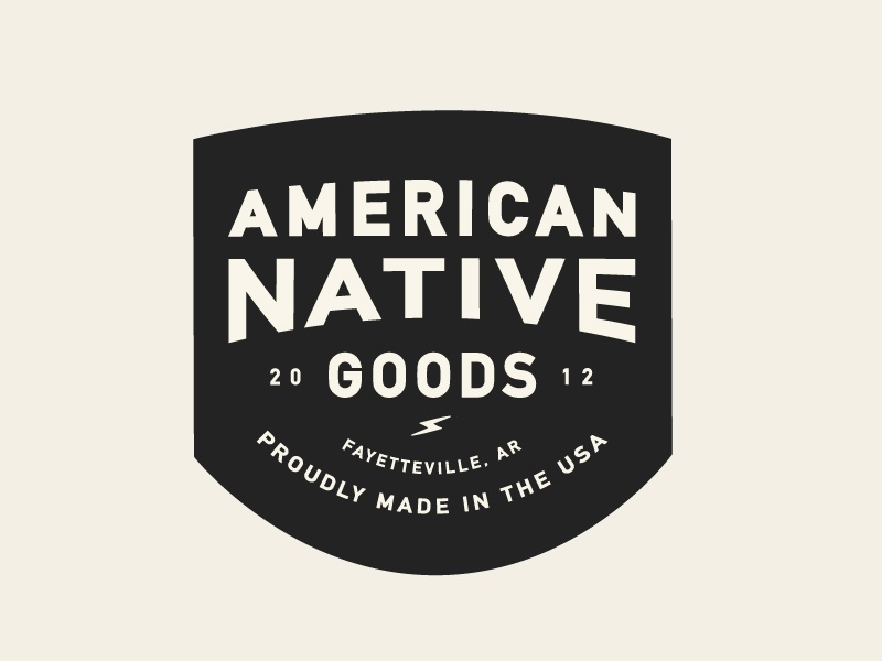 American Native Patch Lockup shirt typography badge logo type product design product patch