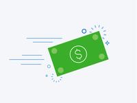 Cash Illustration // Infographic