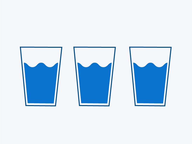 Water // Infographic drink glass infographic water illustration design