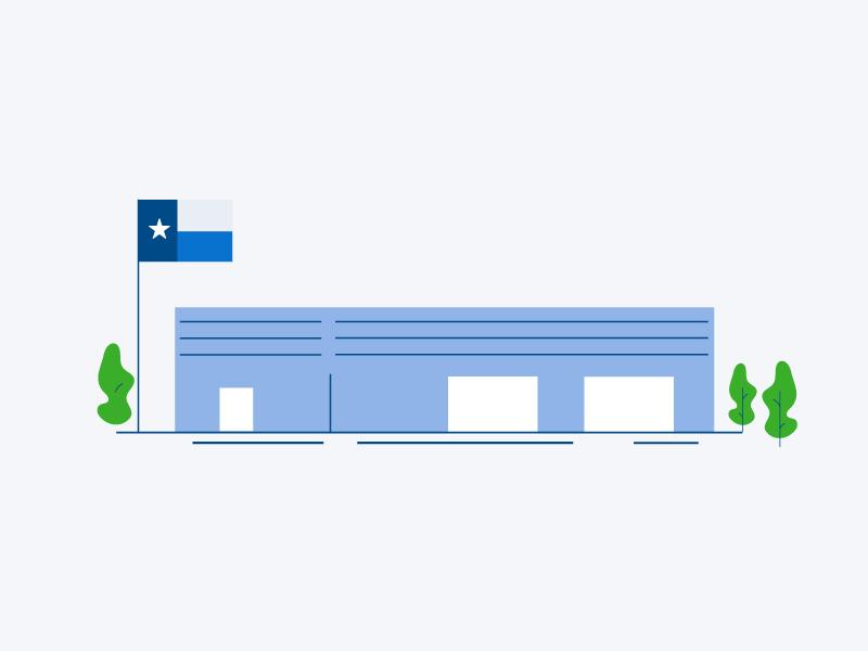 Texas Warehouse // Infographic infographic building texas warehouse design illustration