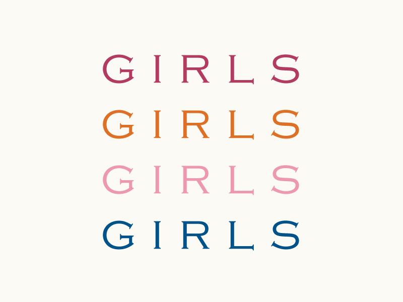 International Women's Day typography type girl power girl female woman women international womens day