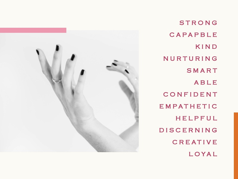Attributes of a Woman. typography type photography hands girl girl power female woman women international womens day