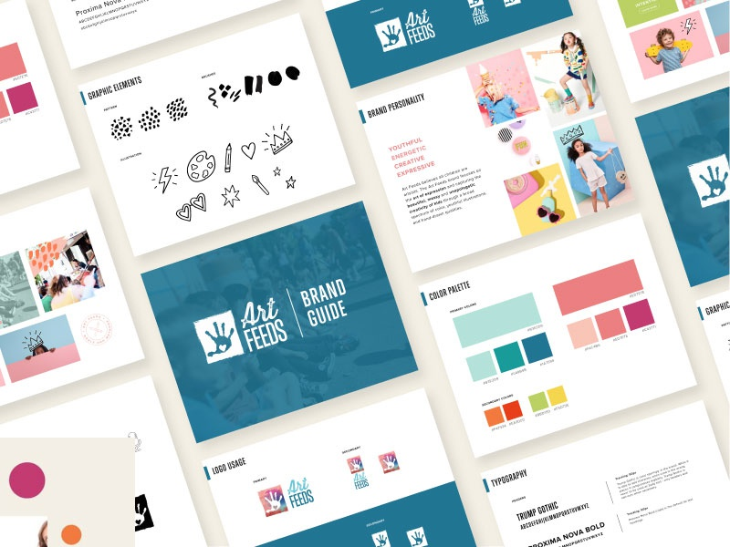 Art Feeds Brand Guide photography iconography typography brand and identity brand strategy color illustration branding brand