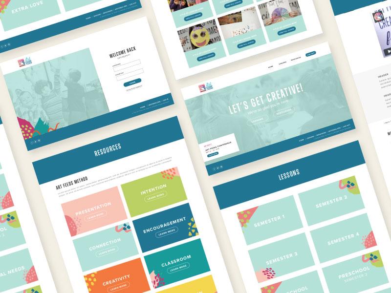 Art Feeds | Web Design brand ux  ui website web  design web branding design
