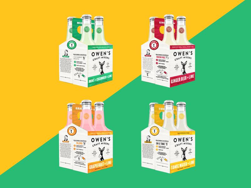 Owen's 4 Pack packaging mockup beverage package mockup cocktail packaging cocktail mixer cocktail packagedesign packaging