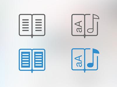 Audiobooks & eBooks iOS7 Icons ios7 icons ebooks audiobooks tabbar