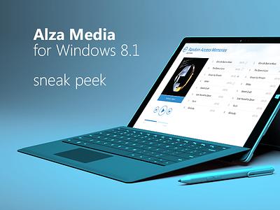 Alza Media Win app - Sneak Peak player windows tablet surface 3