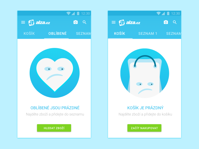 So Sad Empty States material design android empty state