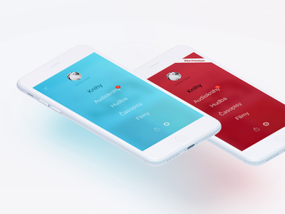 Blurred Colorful Modal Menu