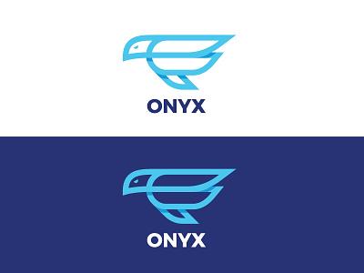 Onyx- Tech blog logo blue blog tech logo eagle