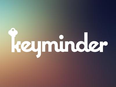 keyminder Logo keys key keyminder reminder k typography logo