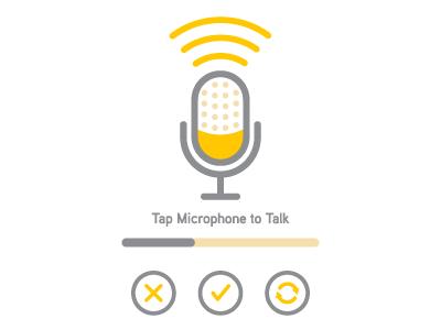 Talkit talk microphone talkit yellow mic gray flat