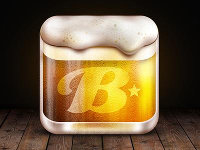 Brewski Me Icon beer icon mug glass condensation skeuomorphism brewski me drinking foam