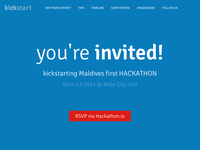 Landing page for Maldives first Hackathon