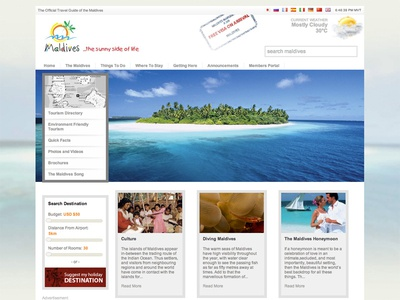 Official Travel Website, Maldives
