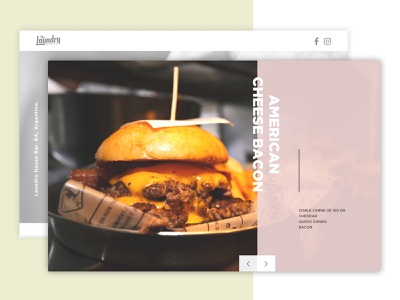 Laundry House Bar javascript web ux ui layout css3 html5 design