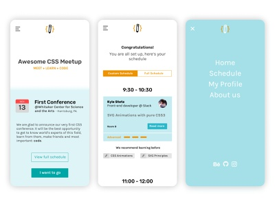 Tienda Nube (Challenge) / Awesome CSS Conference sketch uxui mobile ux