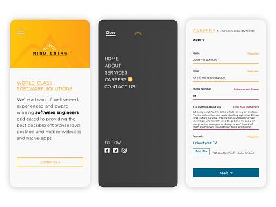 Minutentag / Web Design visual design uxui ux mobile