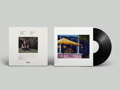 Ducktails - Watercolors LP indie rock album artcover design