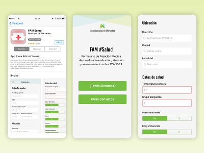 FAM Salud mobile design css html ionic app logo uxui ux