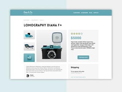 Lens & Co / Concept Site online shop ecommerce branding web uxui ux design figma camera photography visual design ui ux