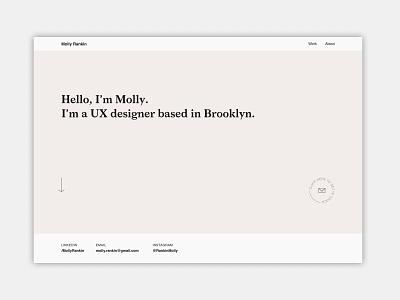 UX Designer Porfolio / Molly Rankin visual design semplice ui design ui ux