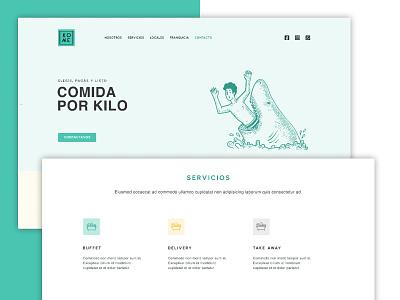 KOME   Comida por peso html5 css3 web uxui visual design ui ux design