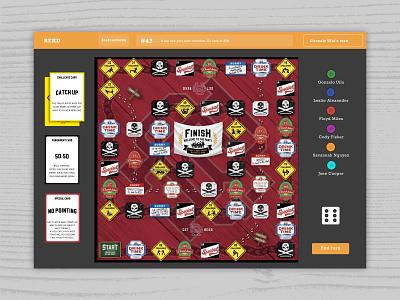 REKD THE GAME dice board game gaming visual design web design css3 uxui ux