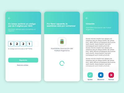 MSA   Virtual Caucus APP uxui ui app design ux design react native app