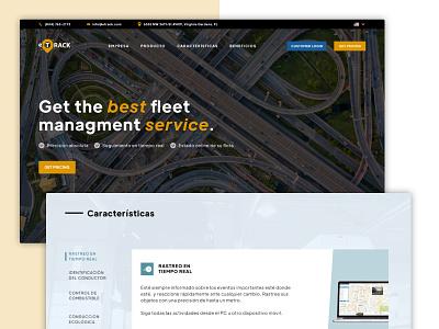 E-Track tabs ui logistics ux webdesign