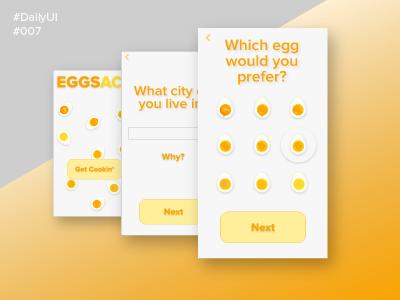 eggsACT: a hard-boiled egg app 007 dailyui
