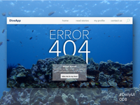 Error 404 for Diver's Website