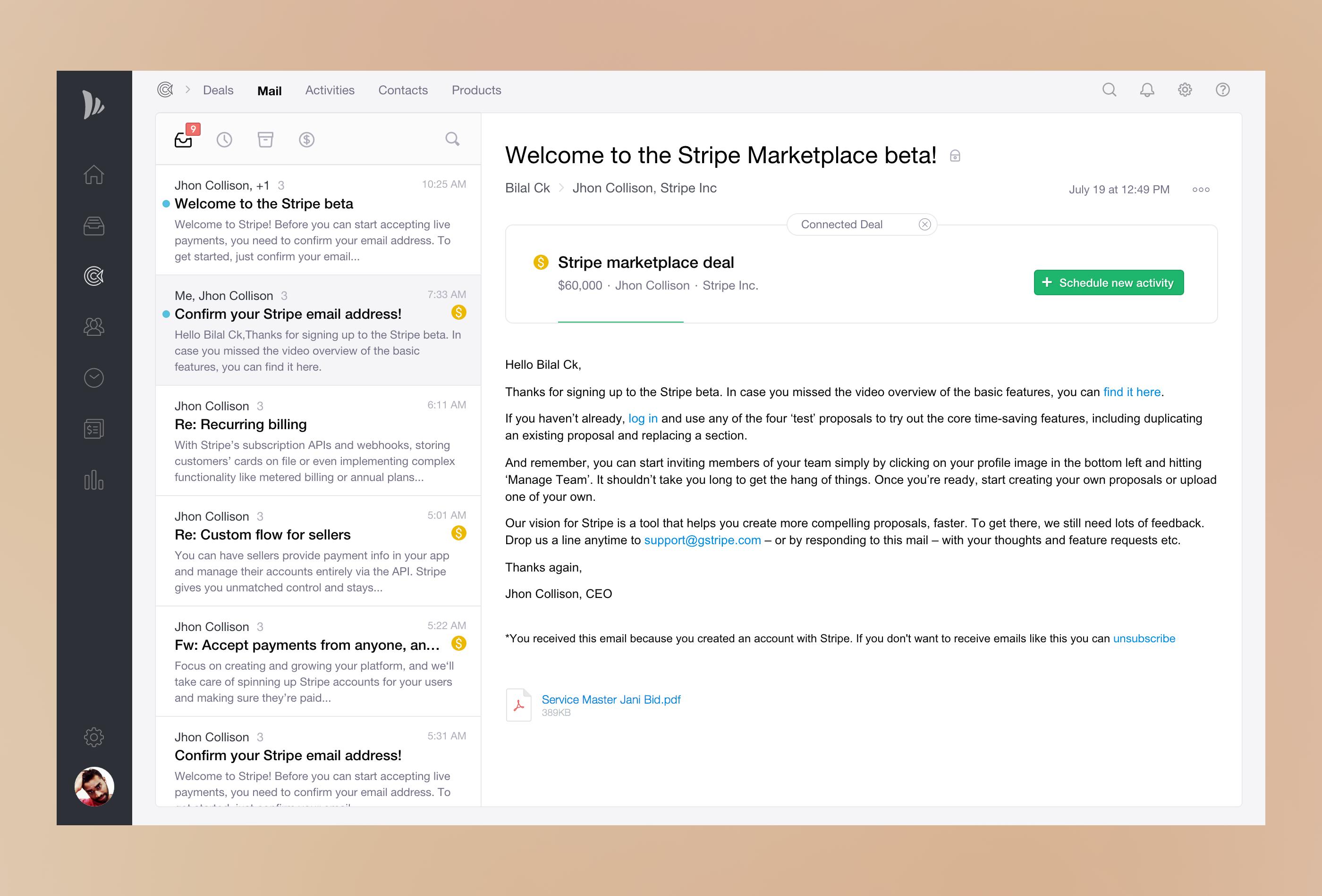 Teamwave email app