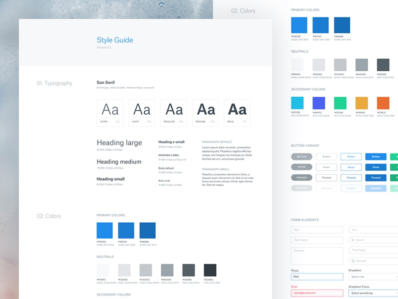 Style guide by bilal ck dribbble for Architectural styles guide