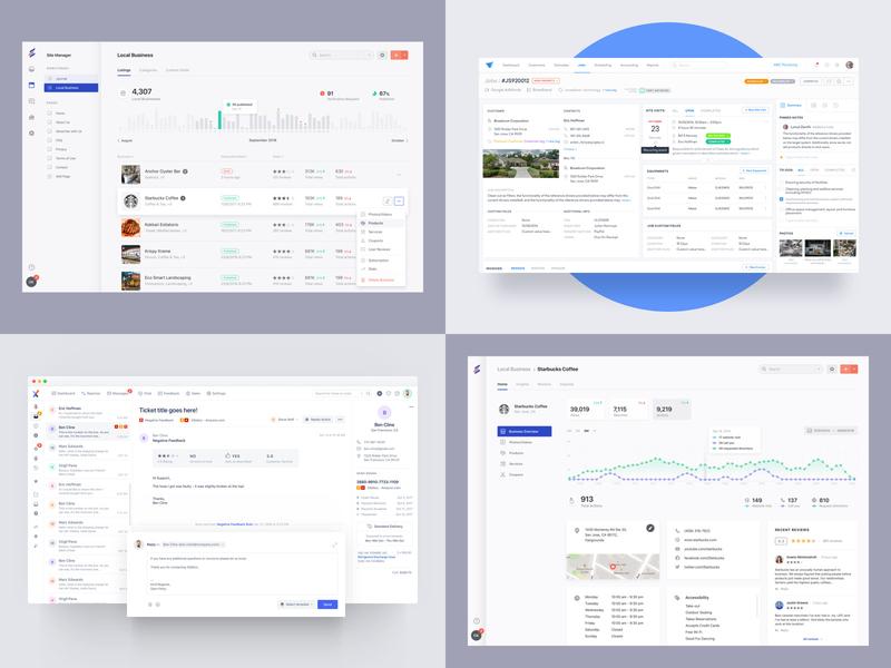 2018 design admin interface clean ux crm stats dashboard ui