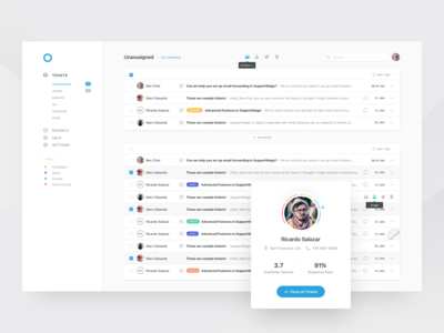 Customer Support Platform Inbox