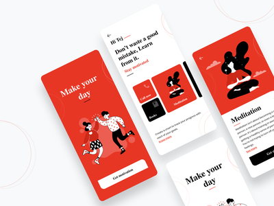 Motivation App ineraction design mobile ui uiux ui visualdesign motivation