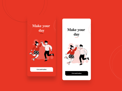 Motivation App - Splash Screen uiart uxdesign ux uidesign ui motion graphics visual design motivationapp motivation visual designs