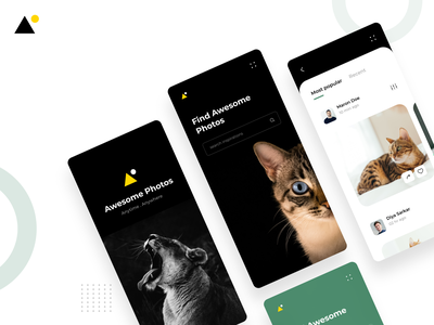 Photo Gallery App - Concept interactions design mobile app mobile ui petapp pets illustration ui uiux photogallery minimal